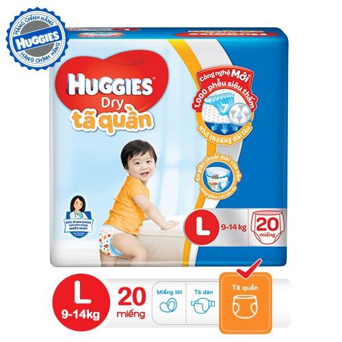 Tã quần HUGGIES DRY PANTS L20 (8 - 13kg) - Gói 20 miếng- 4800060831417 - 3433471 , 526670328 , 322_526670328 , 125000 , Ta-quan-HUGGIES-DRY-PANTS-L20-8-13kg-Goi-20-mieng-4800060831417-322_526670328 , shopee.vn , Tã quần HUGGIES DRY PANTS L20 (8 - 13kg) - Gói 20 miếng- 4800060831417