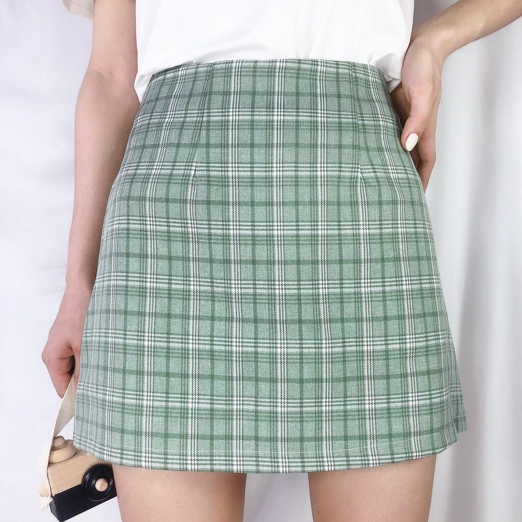 [SALE SP MỚI] Chân váy kẻ caro dáng chữ A hot hit