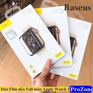 Dán dẻo PET Full màn cho Apple Watch Series 5 , 4 ,3 ,2,1 Chính hãng Baseus Đủ Size 38/40/42/44 mm