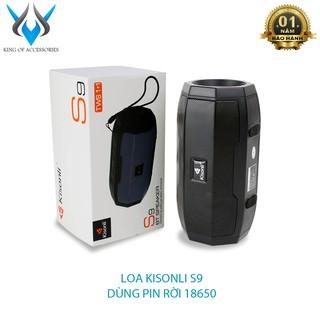 Loa bluetooth Kisonli S9 hỗ trợ nghe USB/TF/FM/AUX/TWS - dùng pin rời 18650 tiện lợi (Nhiều màu)