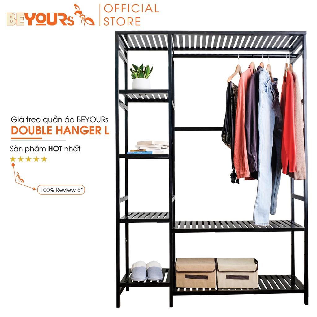 [Mã NOIT10BE9 giảm 10% đơn 200k] Tủ Treo Quần Áo BEYOURs Double Hanger Size Khổng Lồ Nội Thất Kiểu Hàn - Đen