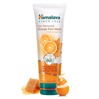 Sữa rửa mặt cam loại bỏ nám sạm Himalaya Tan Removal Orange Face Wash 100ml    Shopee Việt Nam