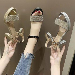 Sandal dalang gót vuông 8 phân