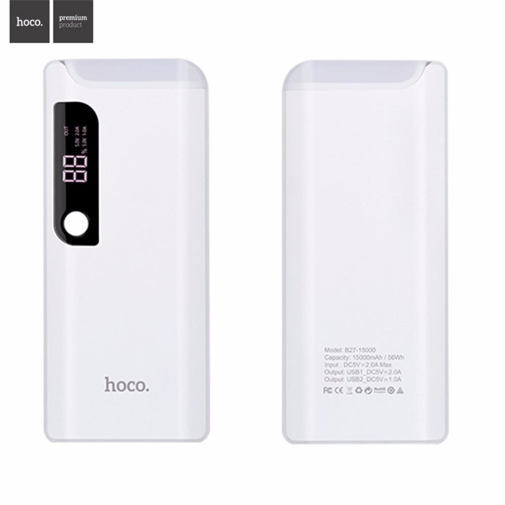 Pin sạc dự phòng HOCO B27 (15000mAh) có màn hình và đèn Led - 3391807 , 811385736 , 322_811385736 , 445000 , Pin-sac-du-phong-HOCO-B27-15000mAh-co-man-hinh-va-den-Led-322_811385736 , shopee.vn , Pin sạc dự phòng HOCO B27 (15000mAh) có màn hình và đèn Led
