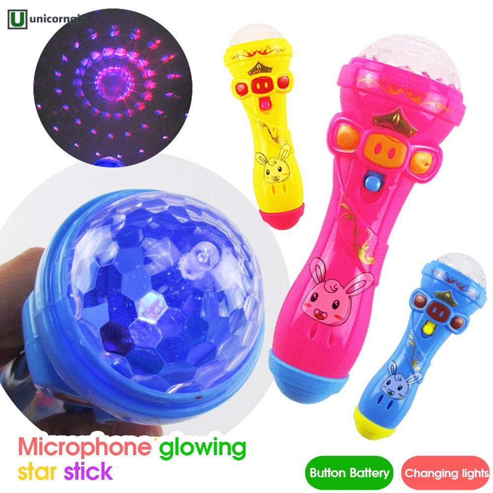 COD Projection microphone flash microphone starry sky light stick light toy @unicorngirl