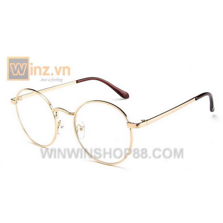 Mắt kính giả cận Hàn Quốc MK143 (Màu Vàng) - Winz.vn