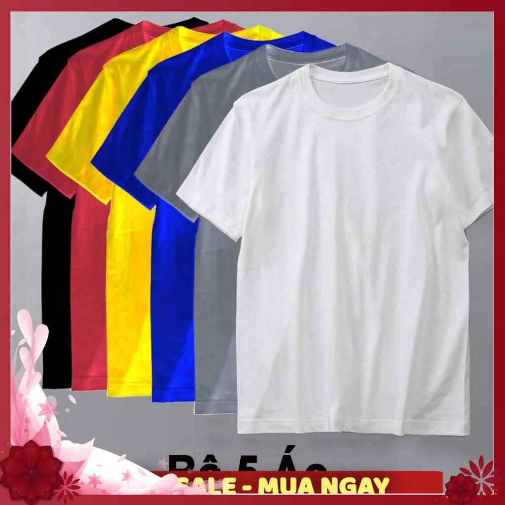 Áo thun trơn ❤️FREESHIP❤️ form rộng phong cách hàn quốc vải poly cotton mịn Nhiều màu đủ size FREE SHIP
