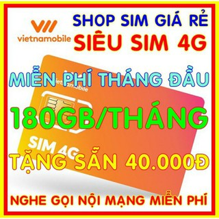 sim Vietnamobile giá rẻ , sim trọn đời , sim 4g tài khoản chính 40.000₫