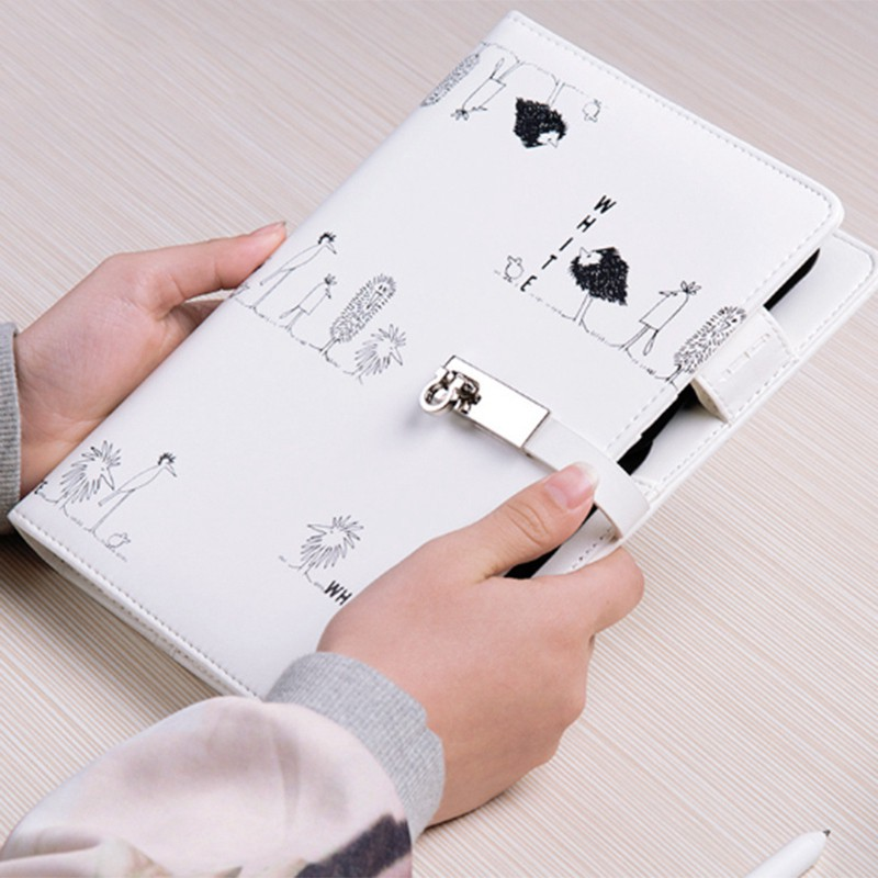【FS】A5 Notepad Loose-Leaf Notebook Office Student Business Gifts White #4
