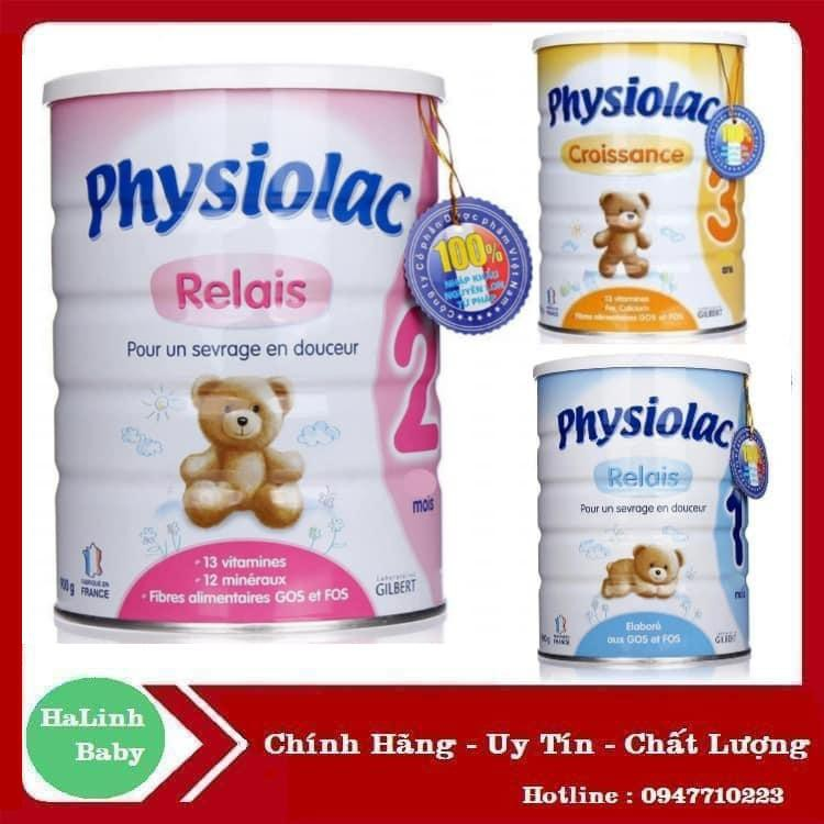 Sữa bột Physiolac số 1, 2, 3 900g ( Date 2021 )