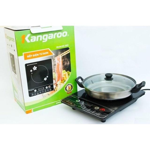 Bếp từ kangaroo 365i tặng kèm nồi inox cao cấpi