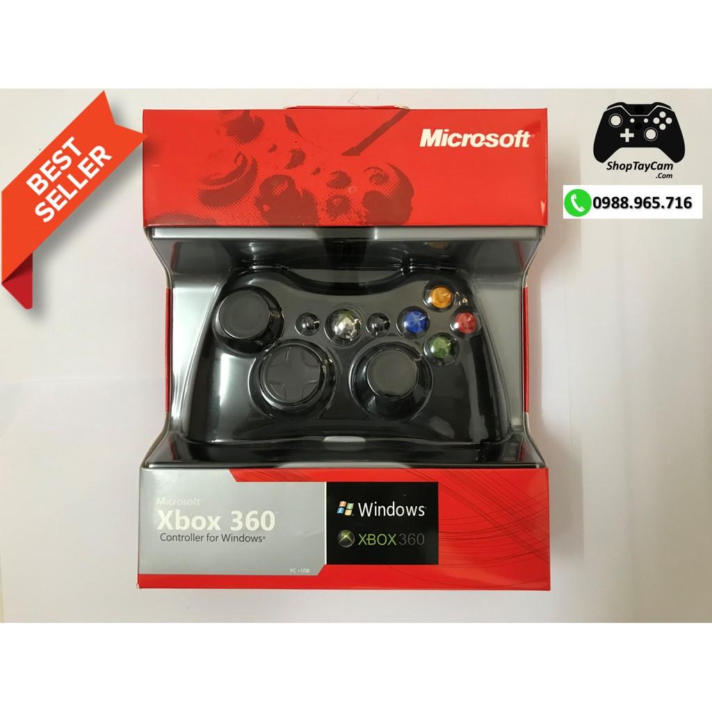 Tay Cầm Xbox 360 Có Dây Chĩnh Hãng Hãng Cũ Renew 99% Chơi Game Tối Ưu Cho PC / FO3 / FO4 | TOP BÁN CHẠ