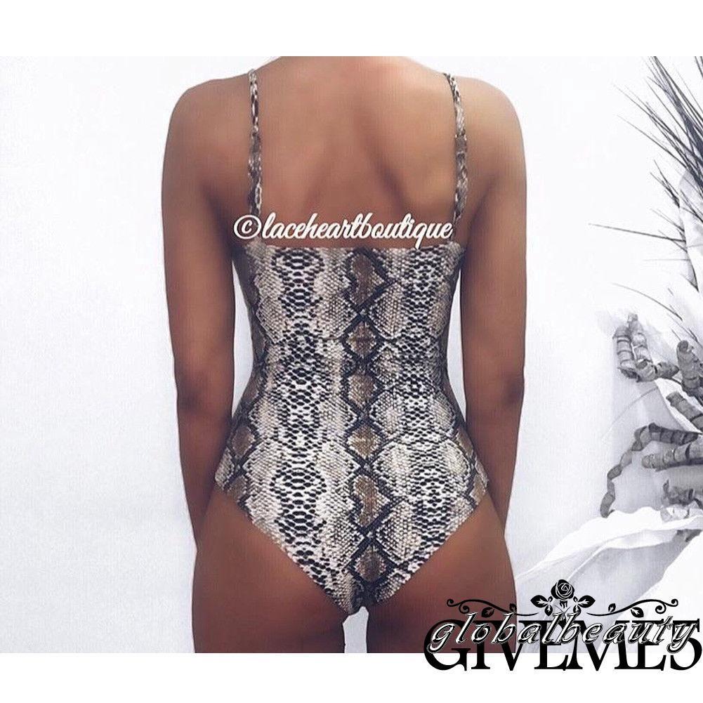 Mặc gì đẹp: Đằm thắm với Áo tắm một mảnh cổ yếm hở lưng họa tiết da báo gợi cảm cho nữ