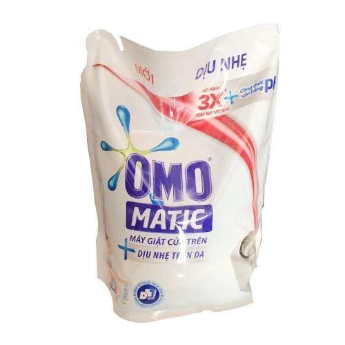 Túi nước giặt Omo Matic cửa trên dịu nhẹ trên da 2.4kg- Chính Hãng