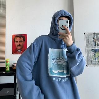 Shopmykieu Áo hoodie form rộng phong cách Hàn Quốc năng động cho cặp đôi