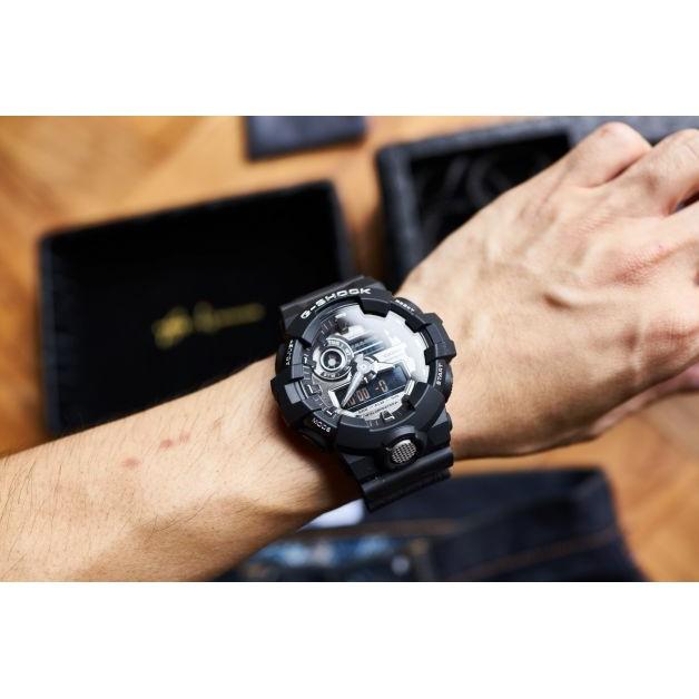 Đồng hồ nam Casio G Shock GA-710-1ADR Dây Nhựa Màu Đen - Tuổi Thọ Pin 5 Năm