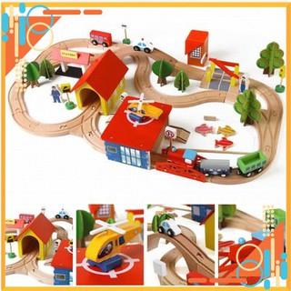 Đồ Chơi Bé Trai – Bộ Ray tàu lắp ráp 69 chi tiết. Đồ chơi bằng gỗ xếp hình sáng tạo cho bé.