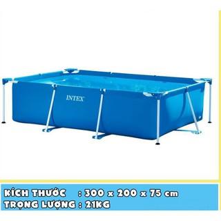 Bể Bơi Khung Kim Loại Intex 3mx2mx75cm Bể Bơi Gia Đình Bể Bơi Cho Bé Bể Bơi Bestway