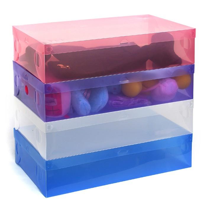 Combo 40 hộp đựng gìay trong suốt nhiều màu