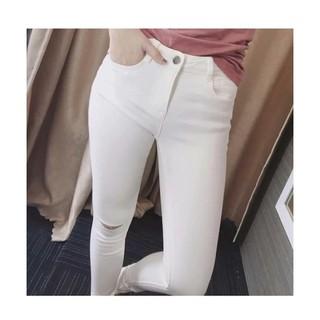 quần skinny lưng cao rách gối