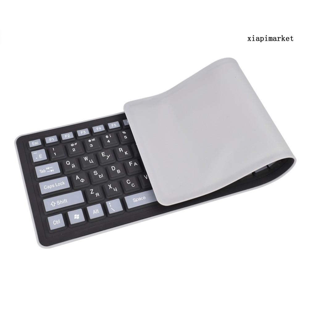 (Hàng Mới Về) Bàn Phím Silicon 103 Phím Chống Bụi Có Thể Gấp Gọn Cho Laptop / Máy Tính