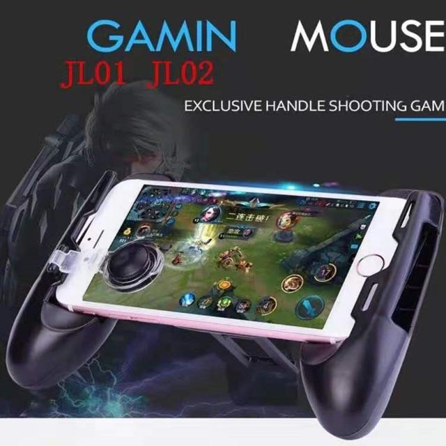 Gamepad JL-02 จอยเกมส์ จอยจับมือถือ ROV PUBG พร้อมปุ่มบังคับ