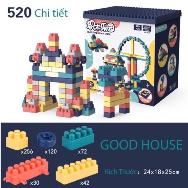 Bộ Lego Xếp Hình Gồm 520 chi tiết.