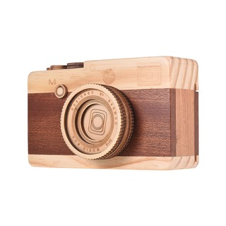Ĩ Wooden Music Box Retro Camera Design Classical Melody Birthday Christmas Festival Musical Gifts Home Office Decoration
