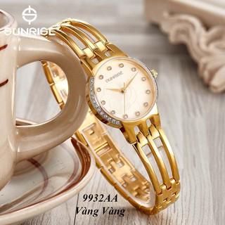 Đồng hồ nữ siêu mỏng Sunrise 9932AA Đính đá kính Sapphire chống xước - Fullbox chính hãng