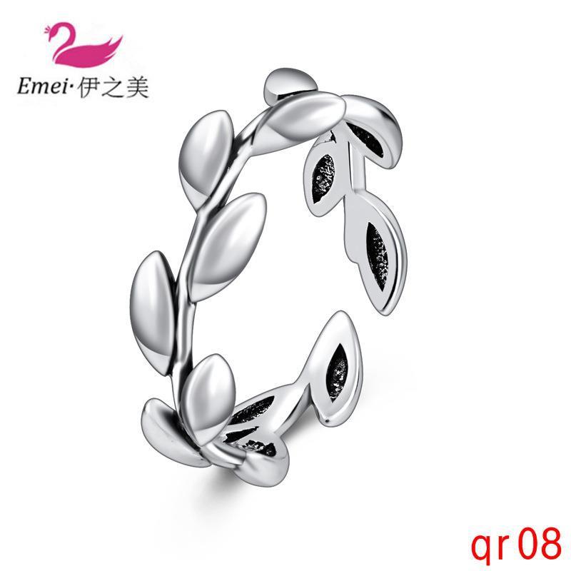ต้นไม้แฟชั่นที่เรียบง่ายสาขาแหวนแหวนวินเทจที่จะส่งแหวนแฟนของเขา