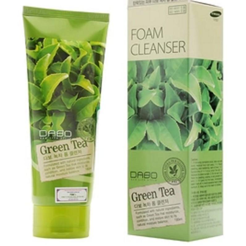 COMBO 2 HỘP-  sữa rửa mặt DABO TRÀ XANH GREEN TEA Hàn quốc sạch mụn, dưỡng trắng da hàn quốc 180ml/Hộp