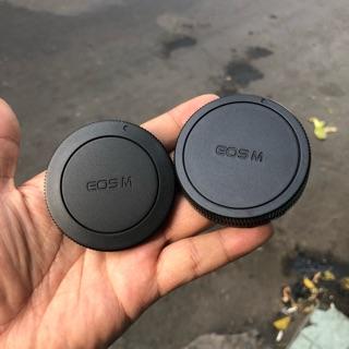 Bộ Cap (nắp) + Cap Đuôi Lens Máy Ảnh Canon Mirroless EOS-M thumbnail