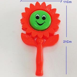 Đồ chơi lục lạc hình hoa hướng dương, xúc xắc cho bé