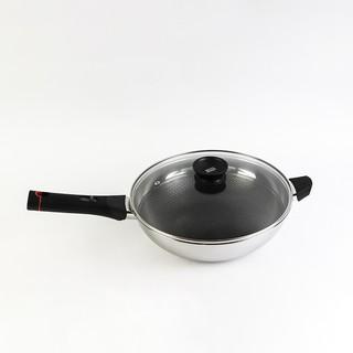 Chảo đáy từ 3 lớp đúc liền inox 304 cao cấp T&K Blackcube Kims Cook tay cầm nhựa cách nhiệt , có thể tháo rời