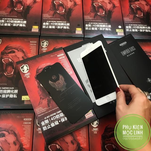 💥ĐÃ CÓ IPHONE 11 PRO / MAX💥SIÊU KÍNH CƯỜNG LỰC KING KONG CHỐNG NHÌN TRỘM XS MAX X XS XR 8plus 7plus 8 7 6splus 6plus 6