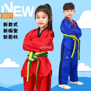 ▬Bộ đồng phục tập võ Taekwondo màu đỏ đen cho người lớn và trẻ em