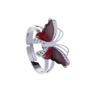 Yêu ThíchNhẫn đeo tay kim loại khảm đá hình con bướm thời trang cho nữ