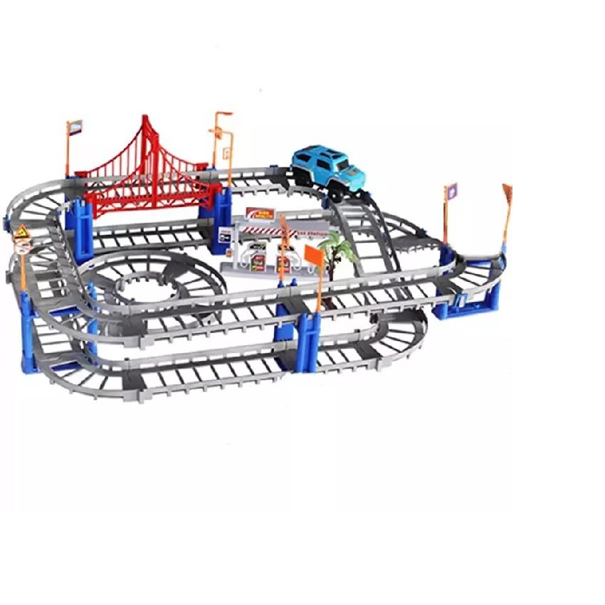 Bộ đồ chơi lắp ghép đường ray cho Ô Tô 88 chi tiết