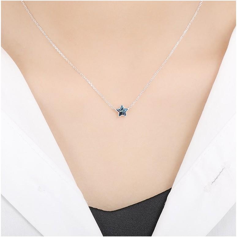Dây chuyền ngôi sao năm cánh xanh dương