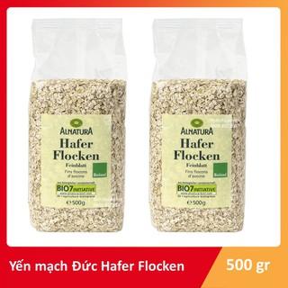 Yêu Thích[Mã GROMSFD hoàn 8% đơn 199K] Yến mạch Hafer Flocken Bio Alnatura Đức cán vỡ 500 g