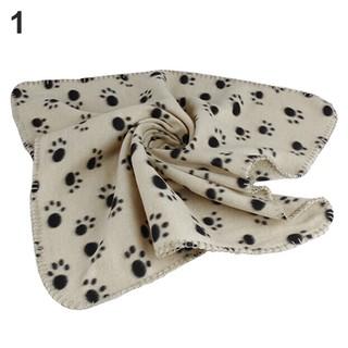 Chăn bông mềm cho thú cưng in họa tiết bàn chân xinh xắn - hình 3