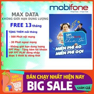 [Free 1 năm 1 tháng TỔNG 13 tháng] TRÙM CUỐI DATA không giới hạn 4G | 10 số (09) Tặng kèm 1 tài khoản víp FPT PLAY ( fre