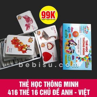 Bộ Học Tập Học Thông Minh 16 Chủ Đề Tiếng Anh Tiếng Việt Cho Bé Cực Hiệu Quả