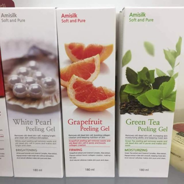 Tẩy da chết Amisilk Grapefruit Peeling Gel
