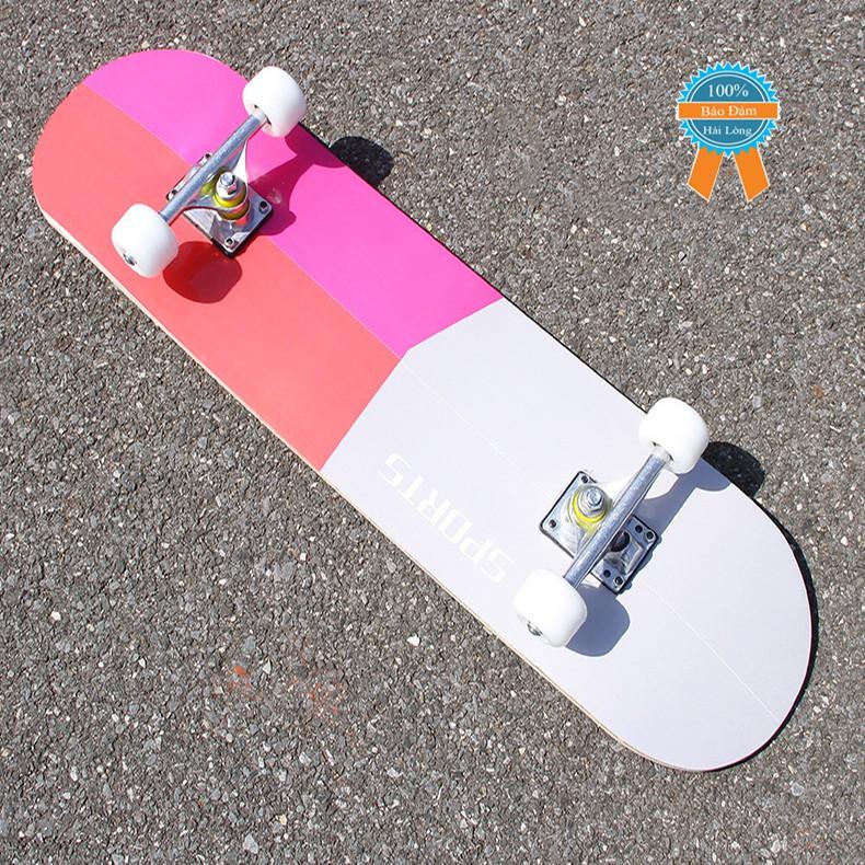 Ván trượt skateboard thể thao gỗ phong ép 7 lớp mặt nhám