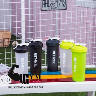 Bình lắc thể thao 1 Lít bình nước tập gym Shake bottle Met RX 1 Lít
