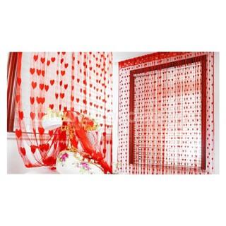 Yêu ThíchRèm màn cửa trái tim treo cửa sổ cửa ra vào phòng ngủ, phòng khách văn phòng nhiều mẫu nhiều màu được chọn mẫu