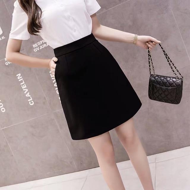 [new] Chân váy chữ A có khoá séc kéo và túi chéo 2 bên