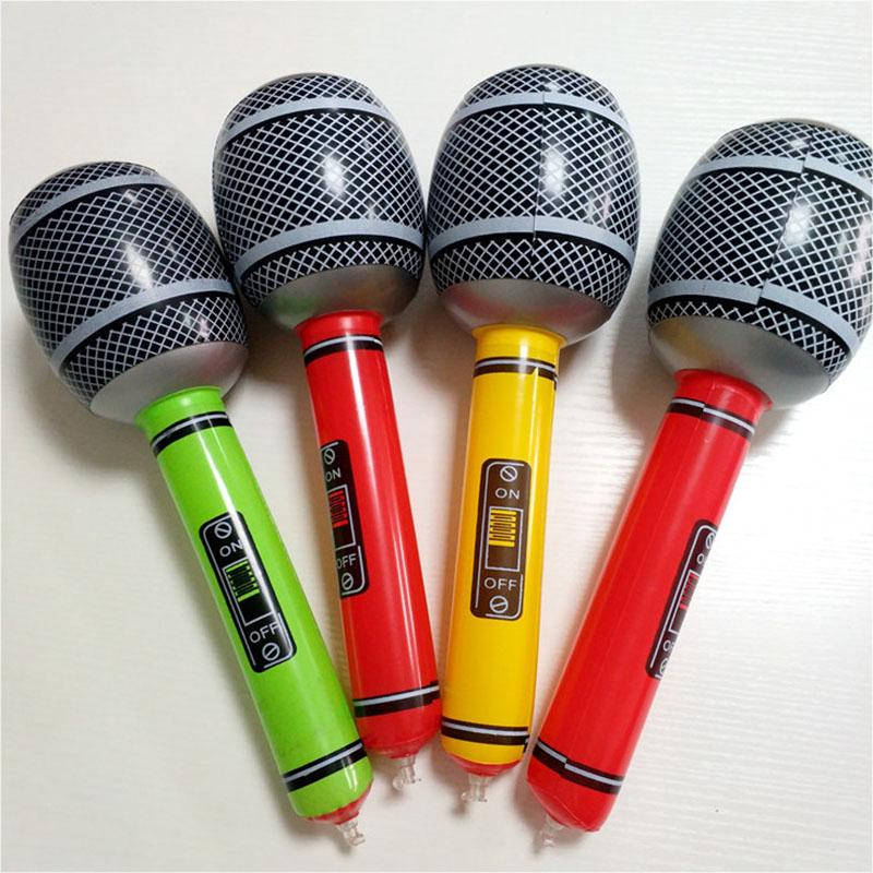 35cm/50cm Inflatable Air Microphone Kids Children Toy Blow Up Party Fancy