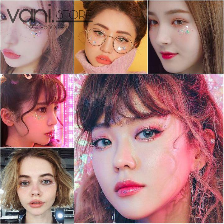 Nhũ mắt Glitter kim tuyến Kira Kira trang điểm Make up Phong cách Ullzang - Hoặc trang trí móng tay Nail